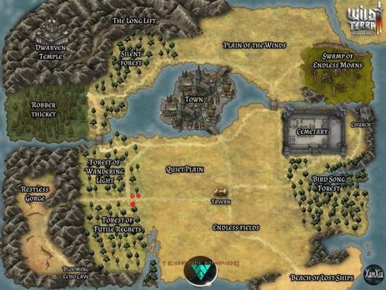 Map mit Häusern