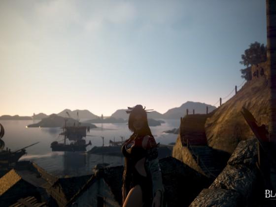 Der erste Sonnenstrahl am Hafen von Epheriaport